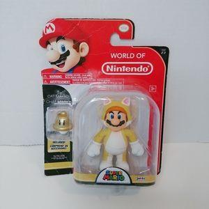 World of Ninetendo Yellow Cat Mario 🐈 Figure NIP
